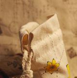 Sacos feitos sob encomenda da lona do algodão do Drawstring