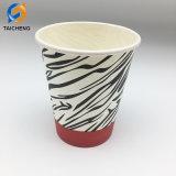 袖が付いている使い捨て可能な単一の壁のコーヒー紙コップ