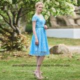 Платье Bridesmaid партии вечера шифоновой короткой втулки женщин Backless