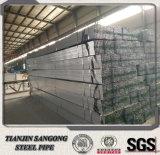 Q235 50*25mm Vor-Galvanisierte rechteckiges Stahlrohr