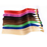 U/I/V TIP와 가진 융해 Keratin, 편평한 Shaped Pre-Bonded Hair Extension