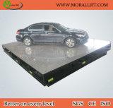 Scissor la elevación del coche con la placa giratoria rotatoria