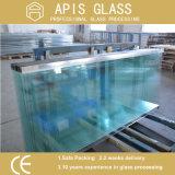 10mm Frameless porte en verre trempé dépoli /salle de bains Le verre trempé avec l'encoche / découpe/logement/rainure/perçage de trous