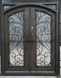 Schöne Sicherheits-bearbeitetes Eisen-Haustüren mit Fußleiste
