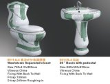 Jeux en céramique sanitaires de salle de bains des articles décorés par luxe 3PCS