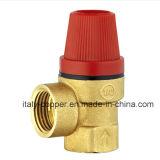 Vávula de bola de cobre amarillo certificada CE de la salida de aire de la seguridad (IC-3060)