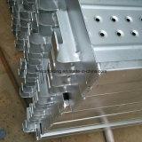 Tablón/plataforma galvanizados del andamio del metal