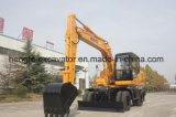 Excavadora de ruedas con 0,7 M3 de 0,6 m3 de la Cuchara Cuchara