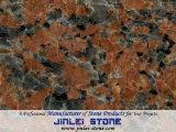 Granito rosso del granito Polished dell'acero per le mattonelle, lastre, pietra per lastricati