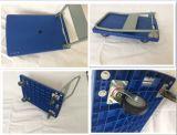 Carrello di plastica dell'azzurro della base piana della piattaforma di dovere di Havey