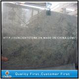 Preiswerte PolierSeawave grüne Granit-Fußboden-/Wand-Fliesen für Badezimmer