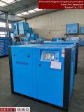 La alimentación de CA el ahorro de energía doble rotor del compresor de aire de tornillo rotativo