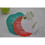 Apple Silk-Screen coloré en forme de rond en plastique d'impression Hang Tags