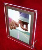 Backlit супер тонкая акриловая кристаллический светлая коробка для венчания