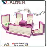 Boîte-cadeau en cuir d'emballage de bijou de cadre de mémoire de bijou de velours (YS725)