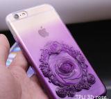 Hot Selling TPU 3D Rose Gradient Housse de téléphone cellulaire bleu pour iPhone 6s / 6s Plus iPhone7 / 7 Plus