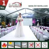 Barraca de cristal do casamento com telhado e os Sidewalls transparentes