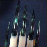 Ocrown nouvelle couleur pour Chameleon Cat Eyes 3D de pigments magnétiques pour clous de décoration et de clou polonais de gel