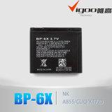 для батареи Bp-6X батареи 3.7V мобильного телефона Nokia