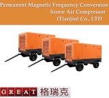 Compresor de aire de alta presión del tornillo del Gemelo-Rotor móvil portable