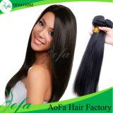 7A cabelo reto brasileiro não processado de cabelo humano do Virgin 100%