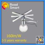 12W à LED intégrée Rue/Jardin lumière solaire avec panneau solaire