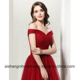 A - линия дешево плиссирует платья вечера шеи шлюпки фактические Lace-up