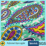 Tessuto della stampa del rayon del tessuto normale per i vestiti di estate