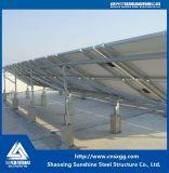 太陽電池パネルの屋根の鋼鉄の梁が付いている土台によって電流を通される鉄骨構造ブラケット