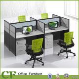 Tipo simples estação de trabalho comercial do escritório da mobília do tamanho padrão