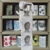 Roulis de WC de nouveauté estampé par étiquette de tissus de toilette de chiffons de toilette de publicité