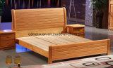 Camas matrimoniales modernas de la base de madera sólida (M-X2268)