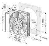 Ventilador axial plástico do impulsor DC13538 da carcaça de alumínio