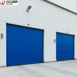 Дверь гаража высокого качества автоматическая секционная промышленная с визуально окном