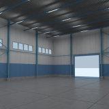Almacén prefabricado ligero ambiental de la estructura de acero con el sitio de la oficina