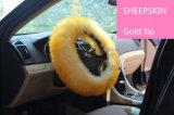 Angefüllter Pelz-Schaffell-Auto-Lenkdeckel im Rosa für Damen