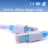 4 pares 24awg UTP CAT6 Cable de conexión con la cruz