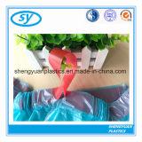 Подгонянные HDPE пластичные мешки отброса Drawstring
