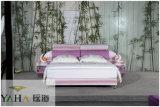 Novo Mobiliário de quarto de cama em pele de moda