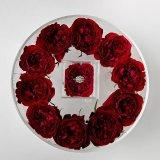 Contenitore di regalo di giorno del biglietto di S. Valentino/acrilico del plexiglass per il contenitore impaccante di fiore fresco
