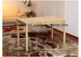 Mesa de jantar em madeira maciça, conjunto de cadeiras