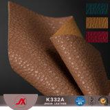 Tessuto da arredamento liscio elastico del cuoio del Faux del PVC di modo per la borsa o i pattini Uage