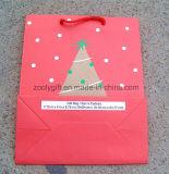 Bolso de papel promocional del regalo de la impresión del árbol de navidad