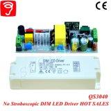 30-46W 0-10V Dimmable 세륨 QS3040를 가진 흔들림 삼각형 LED 운전사 없음