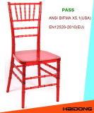 폴리탄산염 수지 Chiavari 빨간 수정같은 의자