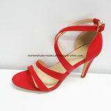 Горячие продавая оптовые ботинки платья высокой пятки способа женщин с пальцем ноги щели