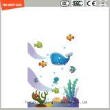 stampa del Silkscreen della vernice di Digitahi di immagine del fumetto di 3-19mm/vetro temperato acido del reticolo di sicurezza incissione all'acquaforte per la stanza da bagno/acquazzone/parete/divisorio con SGCC/Ce&CCC&ISO