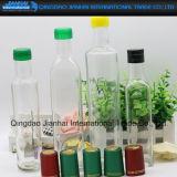Quadratische olivgrüne Schmieröltankanlage-Glasflasche mit unterschiedlicher Größe