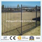 Al aire libre en polvo negro recubierto de aluminio / hierro / cerca de metal