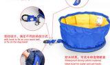 Portable Traveling Use Folding Type Polyester Pet Food Dog Bowl